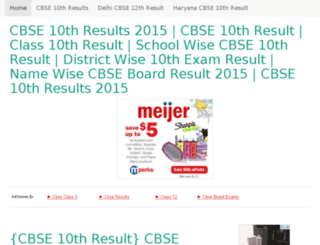 cbseresults2015-nic.in screenshot