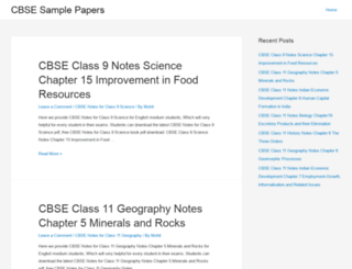 cbsesamplepapers.net screenshot