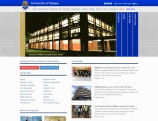 cc.ac.mw screenshot