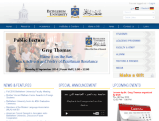 cc.bethlehem.edu screenshot