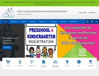 ccaschools.org screenshot