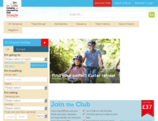 ccc.campingandcaravanningclub.co.uk screenshot