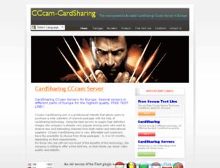 cccam-cardsharing.com screenshot
