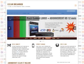 cccam-dreambox.com screenshot