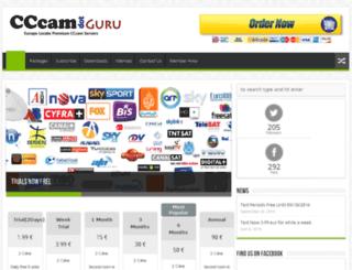 cccam.guru screenshot