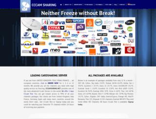 cccamsharing.net screenshot