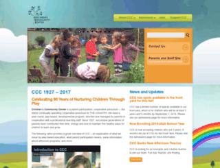 cccpreschool.org screenshot