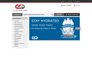 ccdistributors.com screenshot