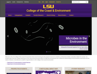 cce.lsu.edu screenshot