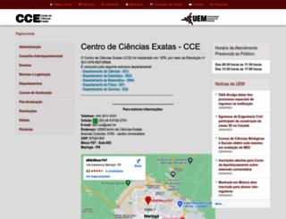 cce.uem.br screenshot