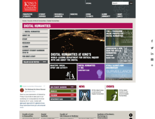 cch.kcl.ac.uk screenshot