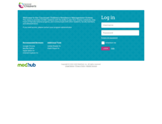 cchmc.medhub.com screenshot