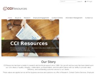 cci-research.ca screenshot
