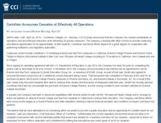 cci.edu screenshot
