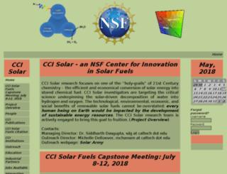 ccisolar.caltech.edu screenshot