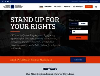 ccla.org screenshot