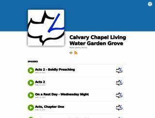 cclivingwater.buzzsprout.com screenshot