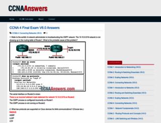 ccnaanswers.com screenshot