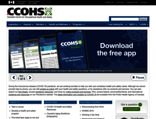ccohs.ca screenshot