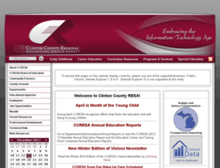 ccresa.schoolfusion.us screenshot