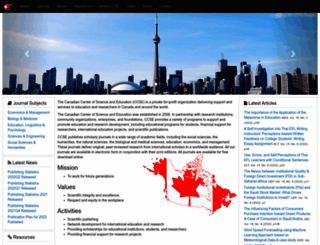 ccsenet.org screenshot