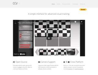 ccv.nuigroup.com screenshot