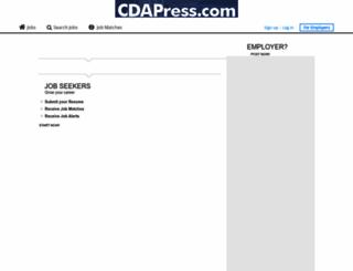 cdapress.thejobnetwork.com screenshot