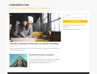 cdbasprix.com screenshot