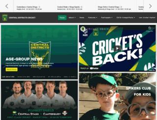 cdcricket.co.nz screenshot