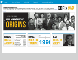 cdfihistory.ofn.org screenshot
