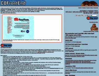 cdfrontend.com screenshot