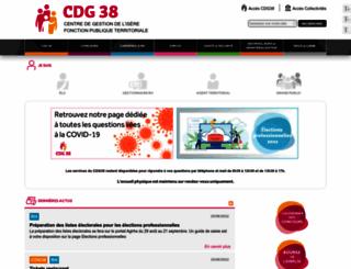 cdg38.fr screenshot