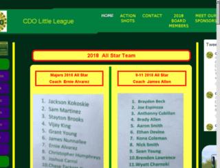 cdobaseball.com screenshot