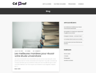 cdprof.com screenshot