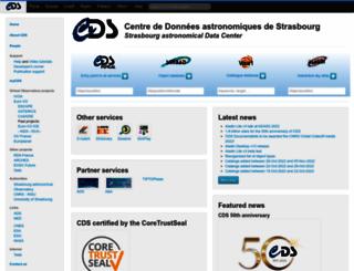 cds.u-strasbg.fr screenshot
