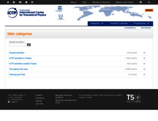 cdsagenda5.ictp.it screenshot