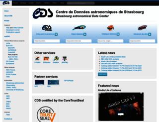 cdsweb.u-strasbg.fr screenshot