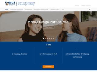 cdtl.nus.edu.sg screenshot