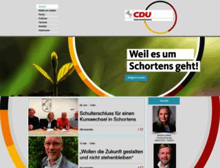 cdu-schortens.de screenshot