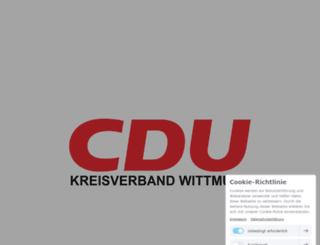 cdu-wittmund.de screenshot