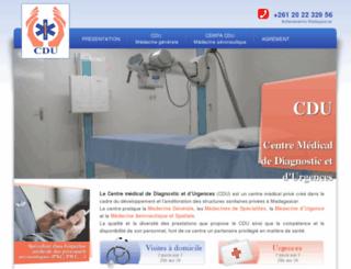 cdumedical.mg screenshot
