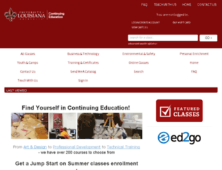 ce.louisiana.edu screenshot