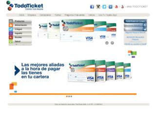 ce.todoticket.com.ve screenshot