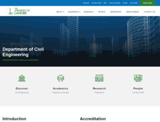 ce.uol.edu.pk screenshot
