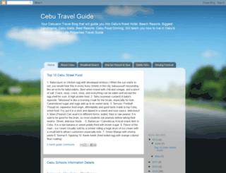 cebu-travel-guide.blogspot.com screenshot