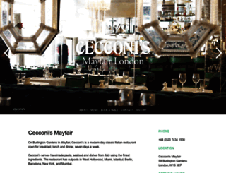 cecconis.co.uk screenshot