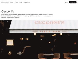 cecconisrestaurant.com screenshot