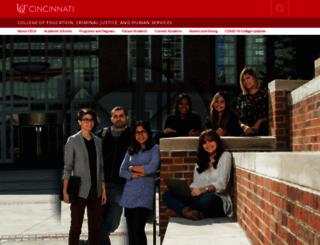 cech.uc.edu screenshot