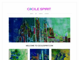 cecile-spirit.squarespace.com screenshot
