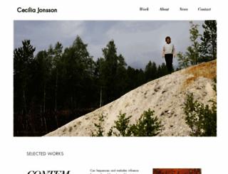 ceciliajonsson.com screenshot